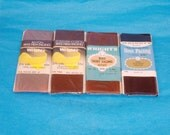 Assorted Dark Vintage Rayon Hem Facing - 4 Packages - Seal Brown, Navy, Dark Grey - 2 Inches Wide - New in Package - Destash