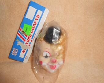 Vintage Lady Clown Head