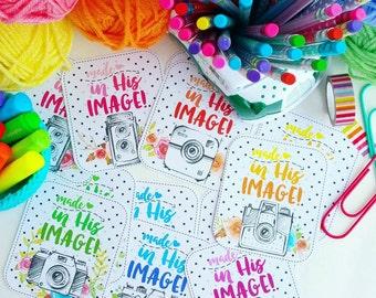 Made in His Image {ephesians 2:10} / set of 6 journaling / bible journaling cards