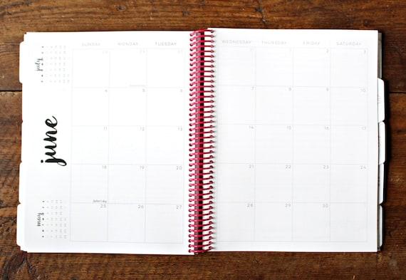 Weekly Calendar Board : Agenda planner calendar floral by jitneysjourneys