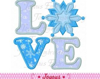 Instant Download Love Snowflake Applique Embroidery Design NO:1842