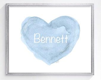 Newborn Boy Gift, Boys Nursery Print, Baby Boy Gift, Boy Nursery, Boy Nursery Decor, Boy Nursery Wall Decor, Baby Blue Nursery Art, Baptism