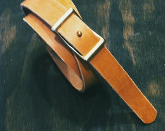 "SALE // 0.75"" Natural Conway Belt for Men and Women"