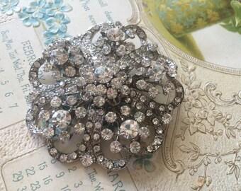 Romantic wedding bridal rhinestone crystals brooch pin, flower brooch, rhinestones brooch, crystals brooch, wedding brooch, bridal dress