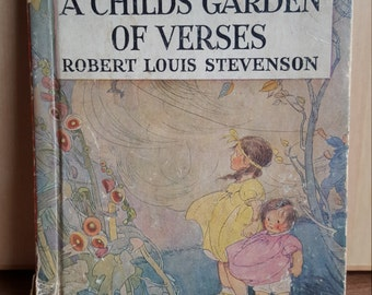 A Childs Garden Of Verses Robert Louis Stevenson 1937 edition Vintage Childrens Book