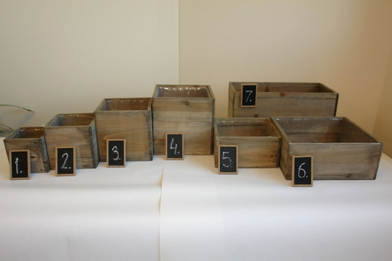 Wood Box Wooden Boxes Vase Succulent Planter Wedding By