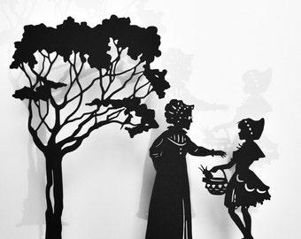 Little Red Riding Hood Shadow Puppet Set: Six Puppets