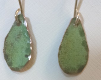 Bangor Public LIbrary Copper Roof Earrings Small Teardrop Dangles Limited Edition