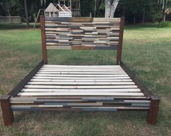 King Reclaimed Wood Platform Bed