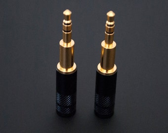 plusSound 3.5mm Extended Connector for DIY Custom Cables - Works with Beyerdynamic, Sony, Focal, Beats, Master & Dynamic, Ultrasone