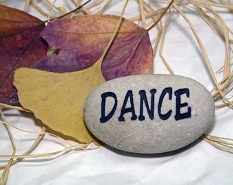 Dance Small Engraved Paperweight Stone