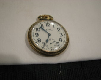 Vintage BALL Commercial Pocket Watch, 435, 10K, 17 Jewels, Swiss, Works