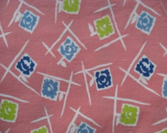 Feedsack Fabric from the 1930's 100% Vintage Feedsack Feed Sack  Cool retro pink pattern