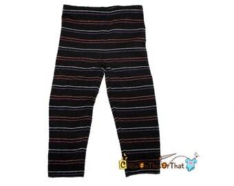 Black Halloween Inspired Striped Toddler Legging Stretch Pants