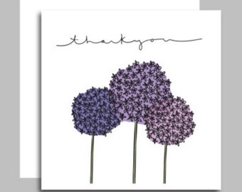 ALLIUM Thank you cards pack of 48