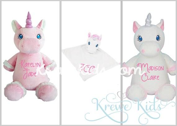 items similar to monogrammed personalized unicorn cubbie stuffed animal or lovie blanket on etsy