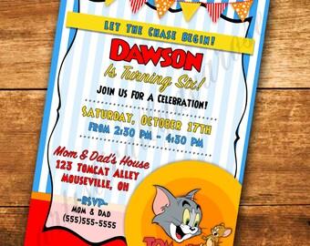 Tom & Jerry Inspired Custom Digital Invitation - Digital PDF