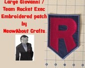 Large Giovanni - Team Rocket emblem embroidered patch