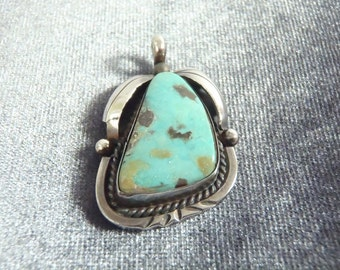 Sterling Silver Native American Turquoise Pendant P83