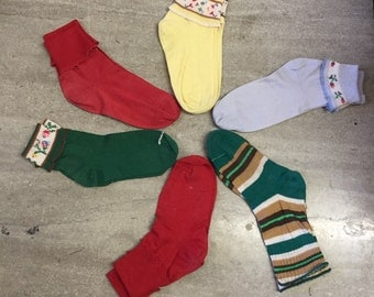 Vintage childrens socks