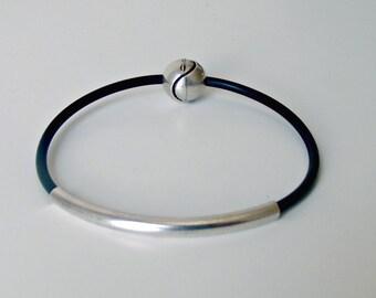 Rubber bracelet, black bracelet, bracelet, rubber jewelry, mens bracelet, bracelet for men, rubber bracelets