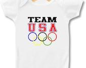 Team USA Olympics - Bodysuit & T-shirt