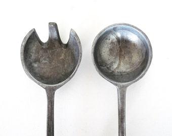Modernist Cast Aluminum Sculptural Tongs