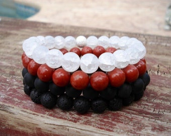 Stackable Beaded Bracelets, Layered Bracelets, Stackable Bracelet Set, Stretch Bracelet, Bracelets For Men, Bracelets For Women