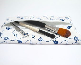 Flat pencil case/ makeup bag/ brush case