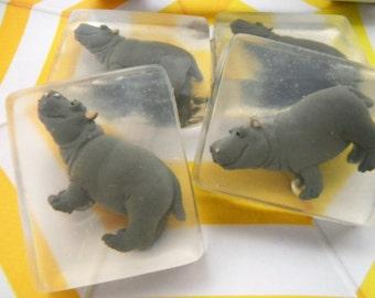 Hippo Soap / Baby hippo LTD/ Hippo party favors