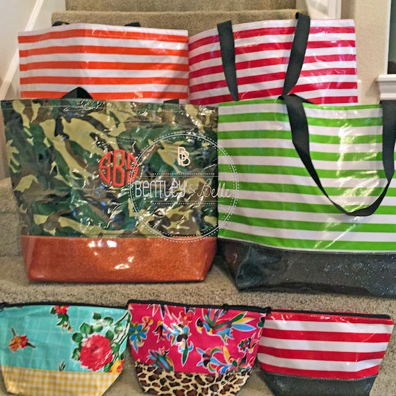 Large Monogram Beach Bag Personalized Bach Bag Embroidered