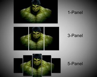 Framed Incredible Hulk Marvel Comics Wall Canvas Art - Ready to Hang