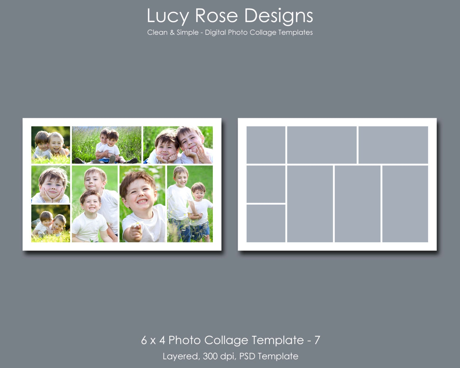 6 x 4 photo collage template 7 for 4 picture collage template