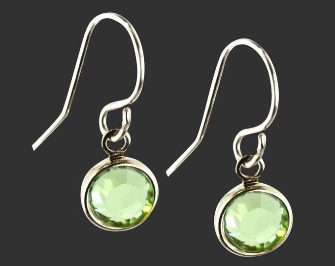 925 Sterling Silver Swarovski Crystal Birthstone Earrings | Bridesmaid Gifts | Teen Gifts | Daughter Gifts | Korena Loves