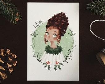 Pinecone 6x4 postcard print