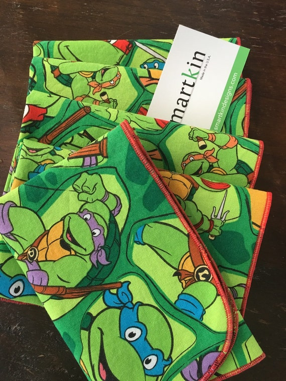 Ninja Turtle Cloth Napkin by Smartkin