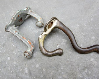 vintage hooks rustic shabby chic distressed chippy paint 1930s
