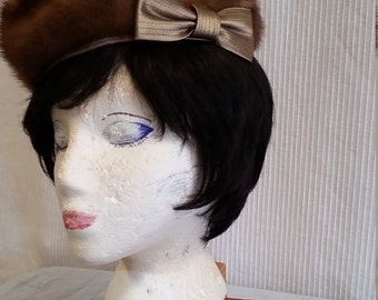 ladies 1960s mink hat