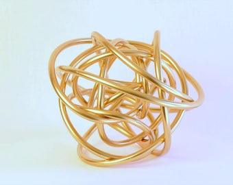 Abstract Copper Sphere Sculpture similar to Kelly Wearstler Brass Knot,  CUSTOMIZABLE