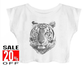 Tiger shirt animal shirt graphic shirt funny quote tshirt hipster graphic shirt slogan shirt women t shirt crop top teen girls shirt
