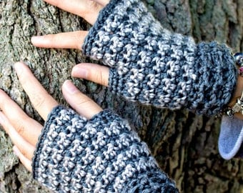 Crochet Pattern for Fingerless Gloves, Dogwood HoundstoothPDF 16-271