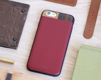 Leather iPhone 6 Case, iPhone 6 Maroon Leather Case, iPhone 6s Case - LTR-MR-I6