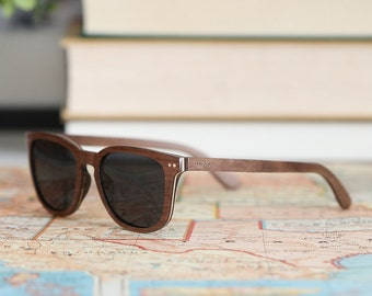 Wood Frame Sunglasses, Walnut & Maple Wood Polarized Sunglasses - ALP-W