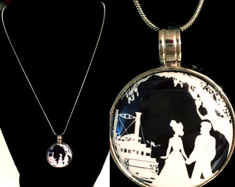 Princess and the Frog Inspired Magnet Pendant Necklace