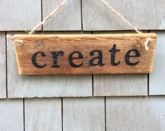 Create Rustic Sign