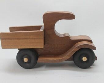 Toy pickup truck, walnut