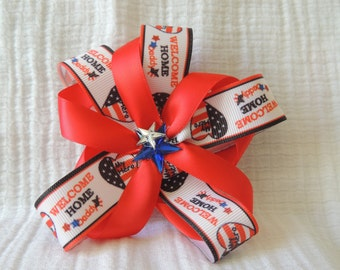 Patriotic  Flower hair bow