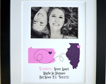 Personalized sister gift, sister birthday gifts, sister moving away gifts, long distance big sister, sister-in-law gift, custom wall art
