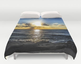 Sunset Duvet Cover Sky Photo King Duvet cover Sunset Queen Duvet Cover Blue Clouds Full Duvet Cover Art Photo Duvet Cover Christmas gift