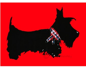 Scottie Dog Art Print Scottish Terrier #200